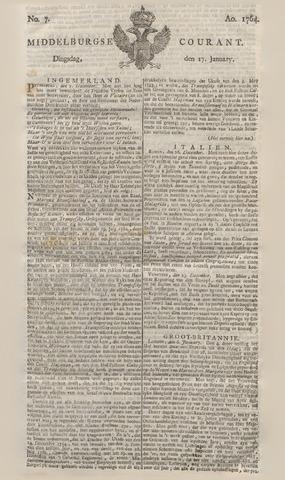 Middelburgsche Courant 1764-01-17