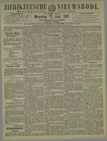 Zierikzeesche Nieuwsbode 1911-06-12