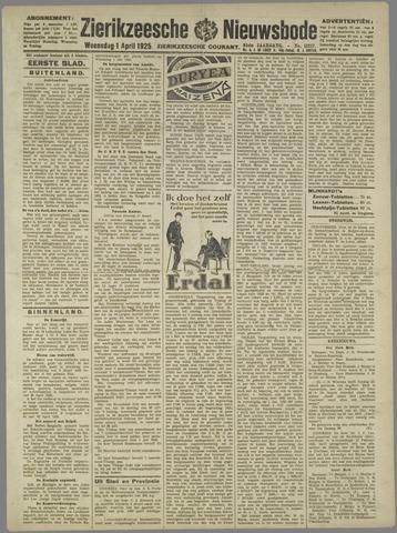 Zierikzeesche Nieuwsbode 1925-04-01