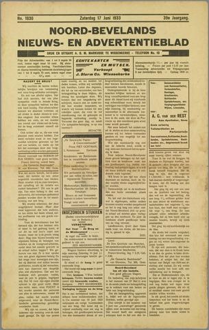 Noord-Bevelands Nieuws- en advertentieblad 1933-06-17
