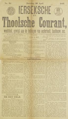 Ierseksche en Thoolsche Courant 1887-04-30