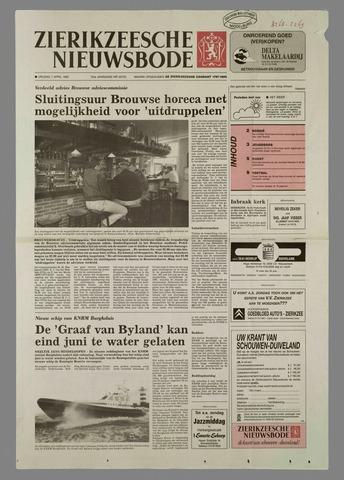 Zierikzeesche Nieuwsbode 1995-04-07