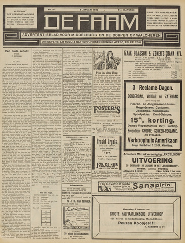 de Faam en de Faam/de Vlissinger 1930