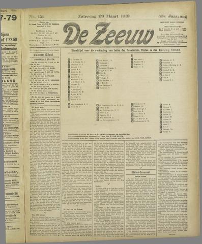 De Zeeuw. Christelijk-historisch nieuwsblad voor Zeeland 1919-03-29