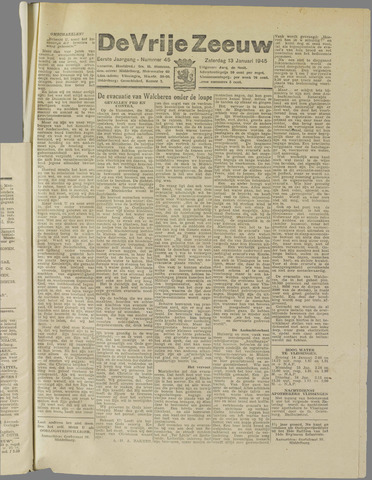de Vrije Zeeuw 1945-01-13