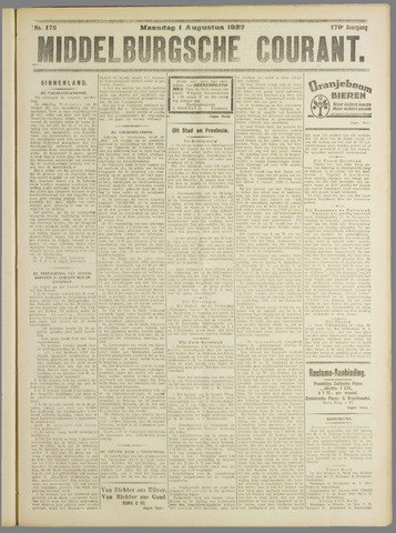 Middelburgsche Courant 1927-08-01
