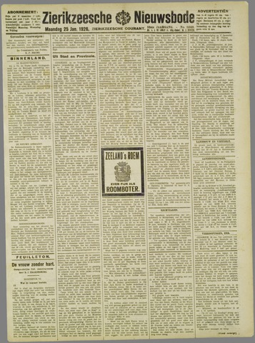 Zierikzeesche Nieuwsbode 1926-01-25
