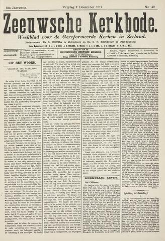 Zeeuwsche kerkbode, weekblad gewijd aan de belangen der gereformeerde kerken/ Zeeuwsch kerkblad 1917-12-07