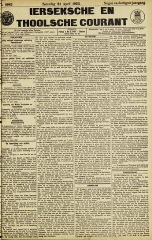 Ierseksche en Thoolsche Courant 1923-04-21