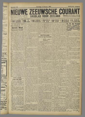 Nieuwe Zeeuwsche Courant 1922-02-04