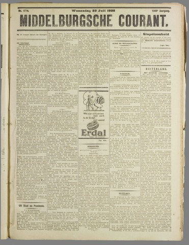 Middelburgsche Courant 1925-07-22