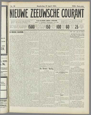Nieuwe Zeeuwsche Courant 1915-04-29
