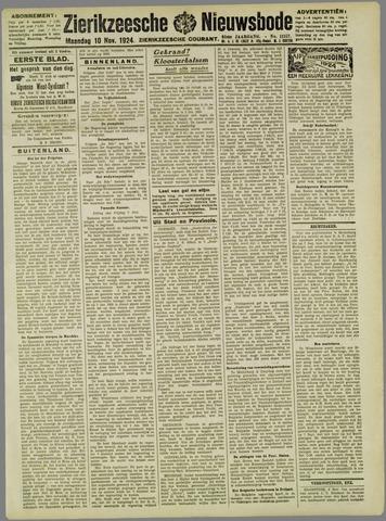 Zierikzeesche Nieuwsbode 1924-11-10