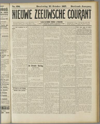 Nieuwe Zeeuwsche Courant 1917-10-25