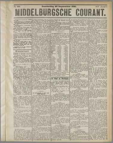Middelburgsche Courant 1921-09-22