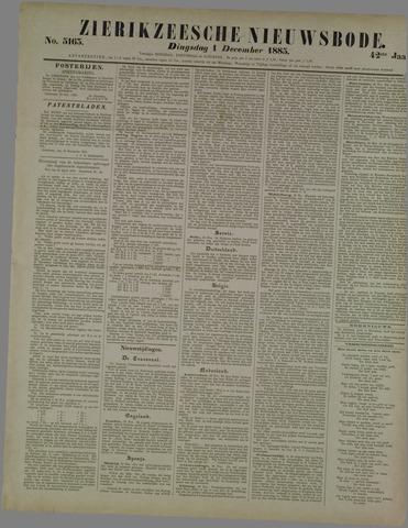 Zierikzeesche Nieuwsbode 1885-12-01