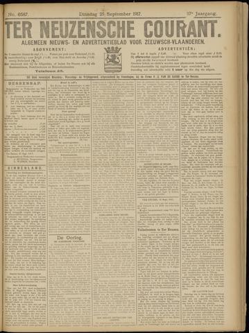 Ter Neuzensche Courant. Algemeen Nieuws- en Advertentieblad voor Zeeuwsch-Vlaanderen / Neuzensche Courant ... (idem) / (Algemeen) nieuws en advertentieblad voor Zeeuwsch-Vlaanderen 1917-09-25