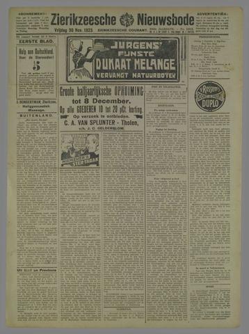 Zierikzeesche Nieuwsbode 1923-11-30