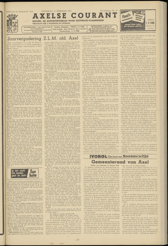 Axelsche Courant 1958-02-15