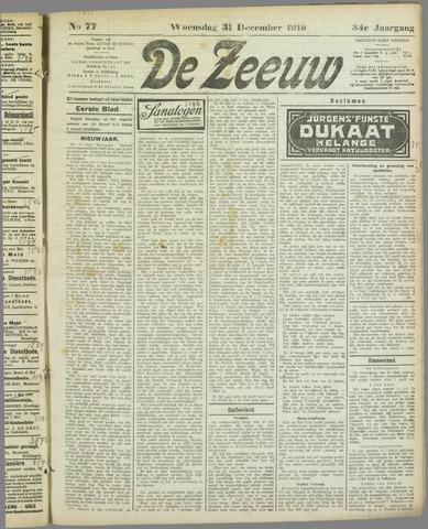 De Zeeuw. Christelijk-historisch nieuwsblad voor Zeeland 1919-12-31