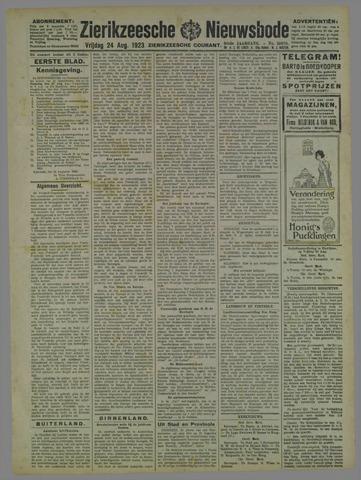 Zierikzeesche Nieuwsbode 1923-08-24
