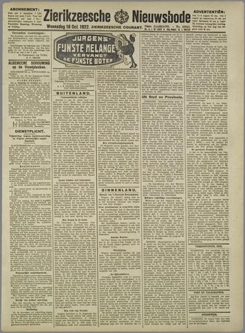 Zierikzeesche Nieuwsbode 1922-10-18
