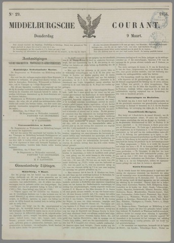 Middelburgsche Courant 1854-03-09