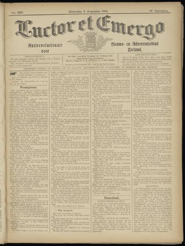 Luctor et Emergo. Antirevolutionair nieuws- en advertentieblad voor Zeeland / Zeeuwsch-Vlaanderen. Orgaan ter verspreiding van de christelijke beginselen in Zeeuwsch-Vlaanderen 1916-08-05
