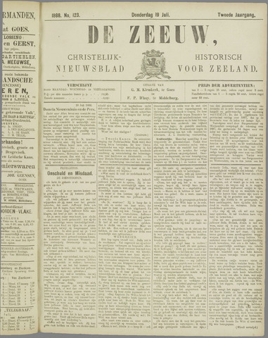 De Zeeuw. Christelijk-historisch nieuwsblad voor Zeeland 1888-07-19