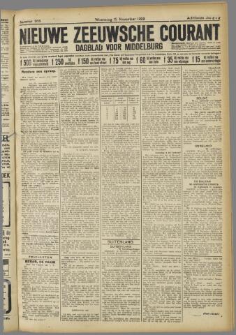 Nieuwe Zeeuwsche Courant 1922-11-15