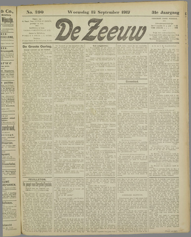 De Zeeuw. Christelijk-historisch nieuwsblad voor Zeeland 1917-09-12