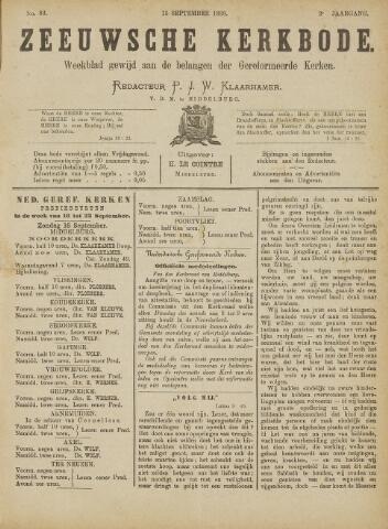 Zeeuwsche kerkbode, weekblad gewijd aan de belangen der gereformeerde kerken/ Zeeuwsch kerkblad 1888-09-15
