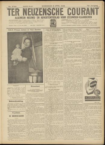 Ter Neuzensche Courant. Algemeen Nieuws- en Advertentieblad voor Zeeuwsch-Vlaanderen / Neuzensche Courant ... (idem) / (Algemeen) nieuws en advertentieblad voor Zeeuwsch-Vlaanderen 1938-04-06