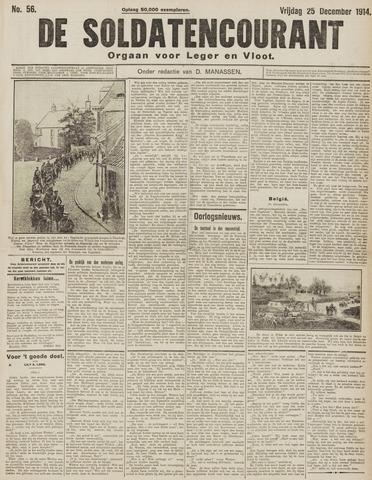 De Soldatencourant. Orgaan voor Leger en Vloot 1914-12-25
