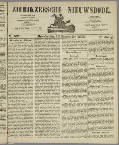 Zierikzeesche Nieuwsbode 1852-09-16