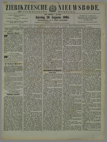 Zierikzeesche Nieuwsbode 1905-08-26