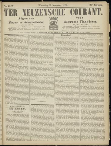 Ter Neuzensche Courant. Algemeen Nieuws- en Advertentieblad voor Zeeuwsch-Vlaanderen / Neuzensche Courant ... (idem) / (Algemeen) nieuws en advertentieblad voor Zeeuwsch-Vlaanderen 1887-11-23