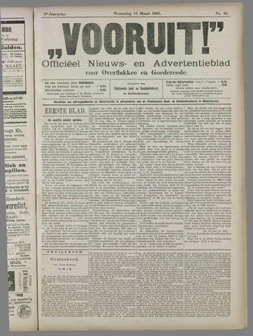 """""""Vooruit!""""Officieel Nieuws- en Advertentieblad voor Overflakkee en Goedereede 1905-03-15"""