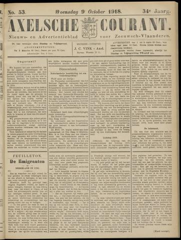Axelsche Courant 1918-10-09