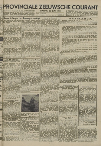 Provinciale Zeeuwse Courant 1943-06-22