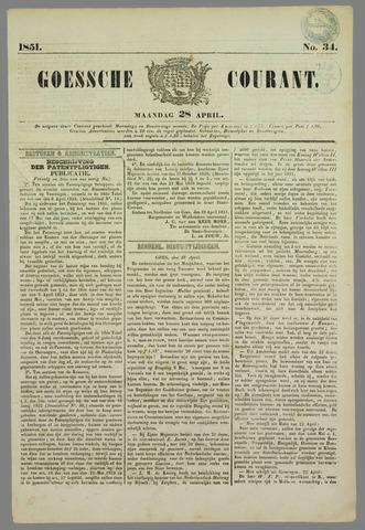 Goessche Courant 1851-04-28