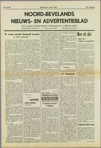 Noord-Bevelands Nieuws- en advertentieblad 1956-04-21