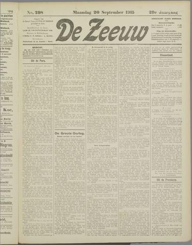De Zeeuw. Christelijk-historisch nieuwsblad voor Zeeland 1915-09-20