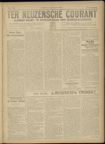 Ter Neuzensche Courant. Algemeen Nieuws- en Advertentieblad voor Zeeuwsch-Vlaanderen / Neuzensche Courant ... (idem) / (Algemeen) nieuws en advertentieblad voor Zeeuwsch-Vlaanderen 1931-03-13