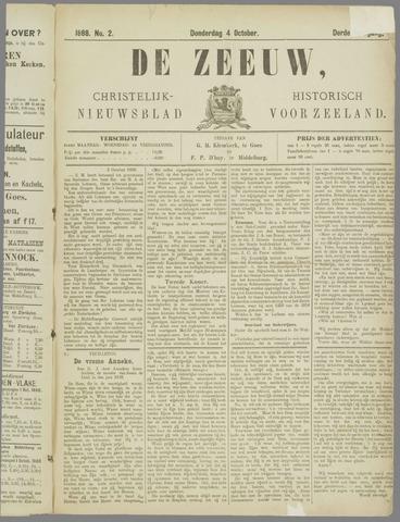 De Zeeuw. Christelijk-historisch nieuwsblad voor Zeeland 1888-10-04