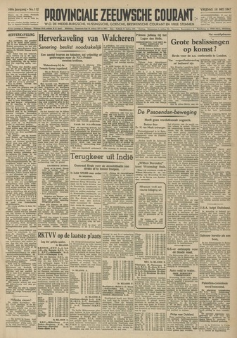Provinciale Zeeuwse Courant 1947-05-16