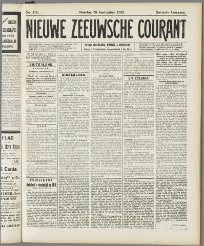 Nieuwe Zeeuwsche Courant 1911-09-26