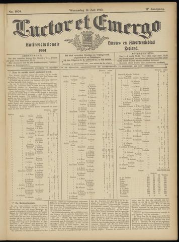 Luctor et Emergo. Antirevolutionair nieuws- en advertentieblad voor Zeeland / Zeeuwsch-Vlaanderen. Orgaan ter verspreiding van de christelijke beginselen in Zeeuwsch-Vlaanderen 1913-07-16