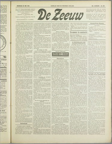 De Zeeuw. Christelijk-historisch nieuwsblad voor Zeeland 1934-05-23