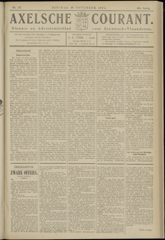 Axelsche Courant 1924-11-18